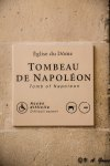 Plaque for Napoleon's Tomb